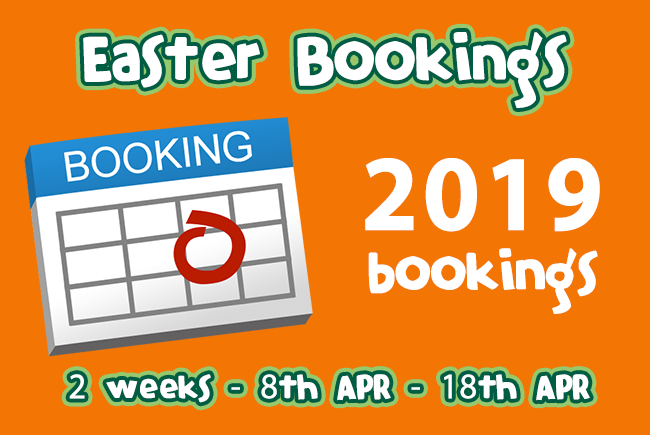 Easter & Summer 2018 bookings